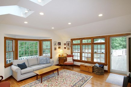 Orleans Cape Cod vacation rental - Living room area with deck access