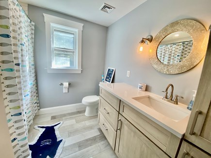 North Falmouth Cape Cod vacation rental - Upstairs bathroom with tub and shower