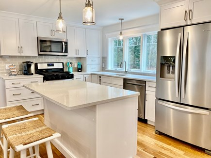 North Falmouth Cape Cod vacation rental - Completely remodeled kitchen with quartz countertops