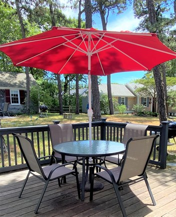 Dennis Port Cape Cod vacation rental - Outdoor seating, charcoal grill provided