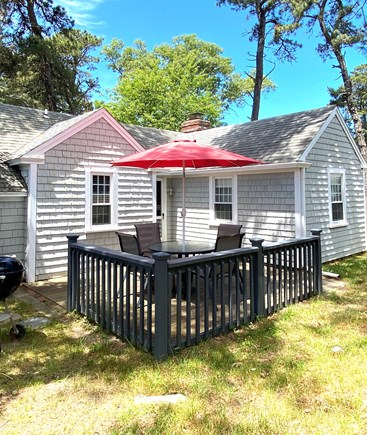 Dennis Port Cape Cod vacation rental - Outdoor shower, beach chairs provided