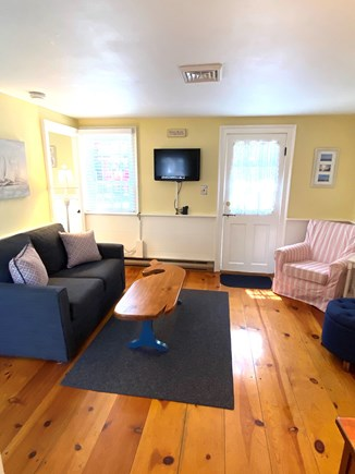 Dennis Port Cape Cod vacation rental - Comfortable seating living room, cable tv & cottage WIFI