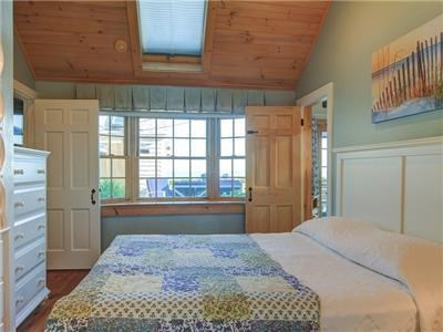 Dennis Port Cape Cod vacation rental - Bedroom 2 with queen and attached full bath.  Cable television