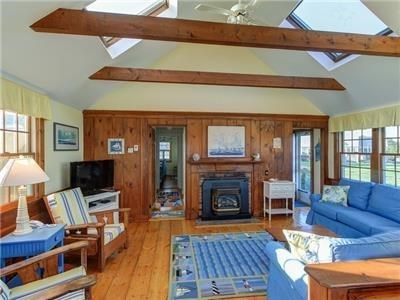 Dennis Port Cape Cod vacation rental - Living room area. Wi-Fi and cable.