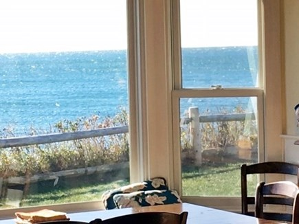 Dennis Port Cape Cod vacation rental - Dining room view of Nantucket Sound.  Fully equipped kitchen.