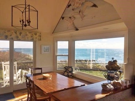 Dennis Port Cape Cod vacation rental - Ocean views from open kitchen, dining living room areas.