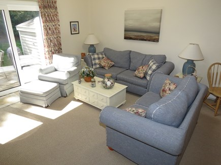 Brewster Cape Cod vacation rental - Living room area with access to patio