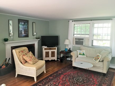 West Dennis Cape Cod vacation rental - Inviting living room with comfortable furniture
