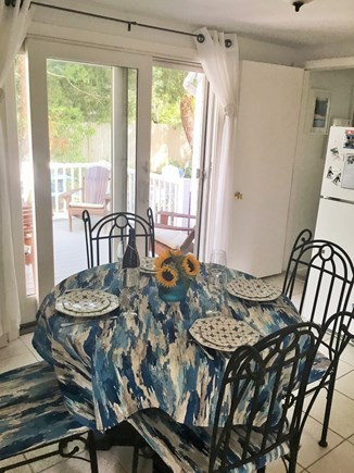 West Dennis Cape Cod vacation rental - Well equipped eat in kitchen