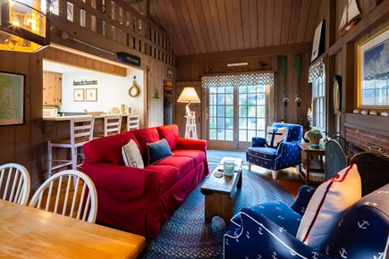 Orleans Cape Cod vacation rental - Open living area with access to deck and backyard