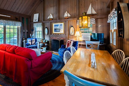 Orleans Cape Cod vacation rental - Main living/dining area with flat screen TV