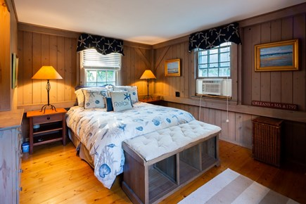 Orleans Cape Cod vacation rental - Main level queen bedroom with AC and flat screen TV