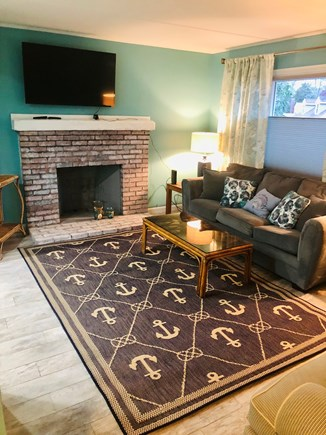 Plymouth, Priscilla Beach MA vacation rental - Living room with love seat and queen pull out sofa