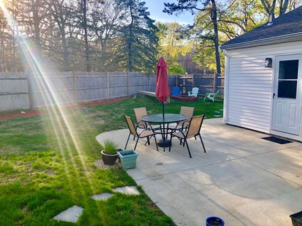 Plymouth, Priscilla Beach MA vacation rental - Large Patio and sitting area right off the kitchen!