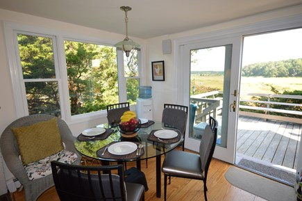 Eastham Cape Cod vacation rental - Dining room with view of the river