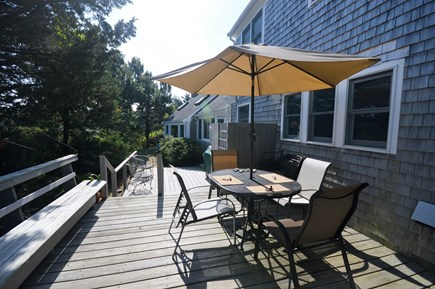 Eastham Cape Cod vacation rental - Outdoor dining with outdoor shower and grill