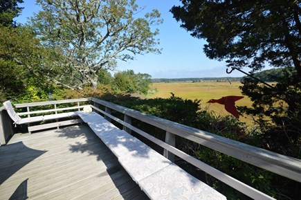 Eastham Cape Cod vacation rental - Seating overlooking Boat Meadow River