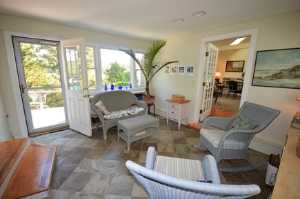 Eastham Cape Cod vacation rental - Sun room with deck access