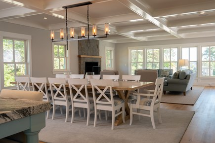 Orleans Cape Cod vacation rental - Dining and Look Toward Living Area