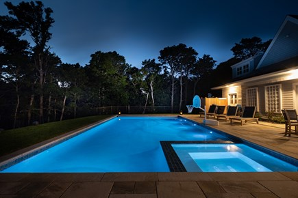 Orleans Cape Cod vacation rental - Poolside in the Evening