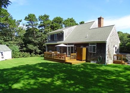 Eastham Cape Cod vacation rental - Spacious backyard with deck and outdoor shower