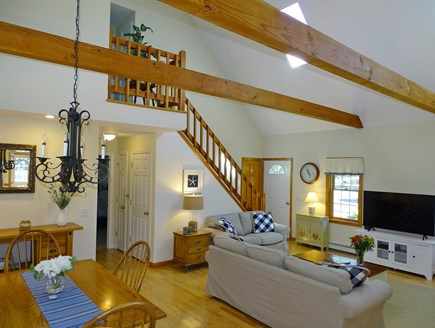 Eastham Cape Cod vacation rental - View of living room and dining area from kitchen