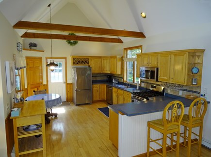 Eastham Cape Cod vacation rental - Large open kitchen with new appliances, breakfast bar