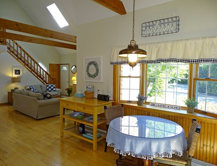 Eastham Cape Cod vacation rental - Sunny kitchen bay window with sitting area