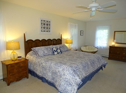 Eastham Cape Cod vacation rental - First floor king master bedroom with TV