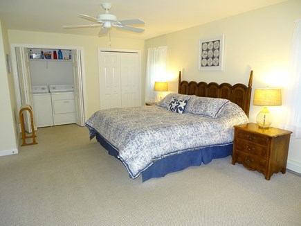 Eastham Cape Cod vacation rental - Large master bedroom, laundry first floor