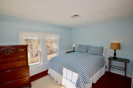 Wellfleet Cape Cod vacation rental - Sunny queen bedroom with dresser and closet and central AC