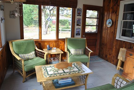 Eastham  Cape Cod vacation rental - Lovely three season porch great for family game nights