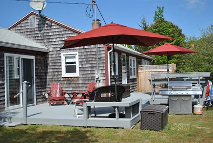 Eastham  Cape Cod vacation rental - Large outdoor seating and dining area