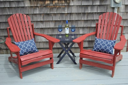 Eastham  Cape Cod vacation rental - Have a glass of wine on the lower back deck