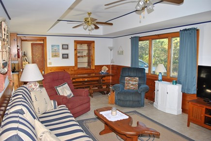 Eastham  Cape Cod vacation rental - Open floor plan living and dining rooms