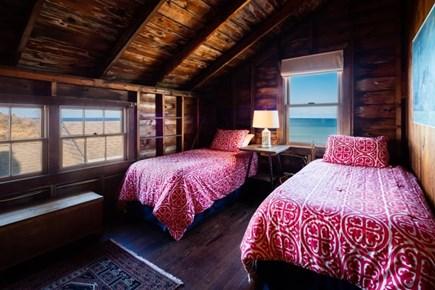 Truro Cape Cod vacation rental - Upper twin bedroom with ocean views