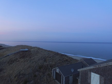 Truro Cape Cod vacation rental - Aerial view to the North incredible setting right at dune's edge