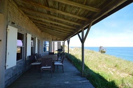 Truro Cape Cod vacation rental - Outdoor dining with beautiful views