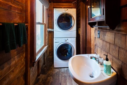 Truro Cape Cod vacation rental - Main level half bath with washer/dryer