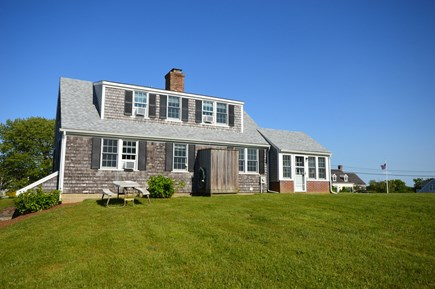 Orleans Cape Cod vacation rental - Large backyard with fully enclosed outdoor shower & dining table