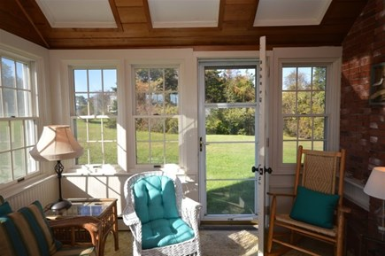 Orleans Cape Cod vacation rental - Sunroom with backyard access