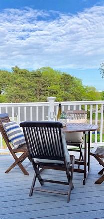 West Yarmouth Cape Cod vacation rental - View of upper deck from master suite