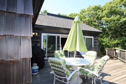 Truro Cape Cod vacation rental - Large Deck has comfortable furniture, gas grille