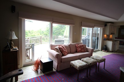 Truro Cape Cod vacation rental - Living room opens to main deck