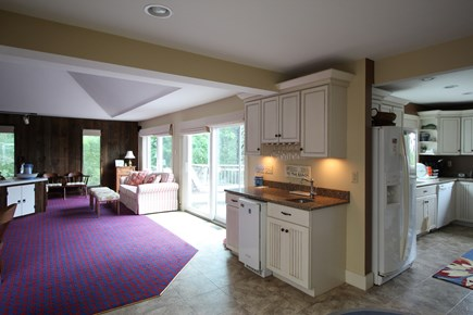 Truro Cape Cod vacation rental - Kitchen, beverage center to deck