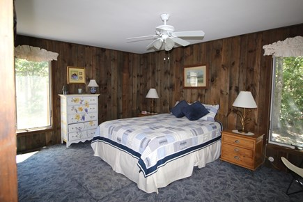 Truro Cape Cod vacation rental - First floor bedroom with queen bed and half bath