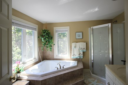 Truro Cape Cod vacation rental - Large bath with tub and separate shower