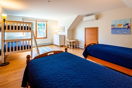 Orleans Cape Cod vacation rental - Upstairs bunk room with two twins and mini split AC