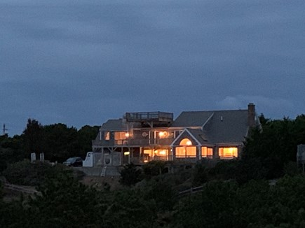 North Truro Cape Cod vacation rental - Dusk from old Railroad bed