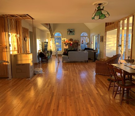 North Truro Cape Cod vacation rental - Afternoon light from dining room through to living room.